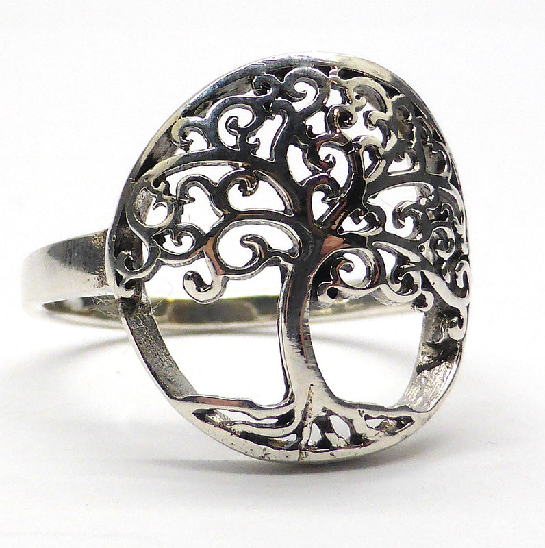 Ring Tree of Life Motif | 925 Sterling Silver | Crystal Heart Melbourne Australia Silver and Gemstone Alternative Megastore since 1986