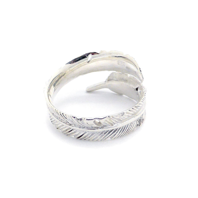 Ring Feather Adjustable Silver