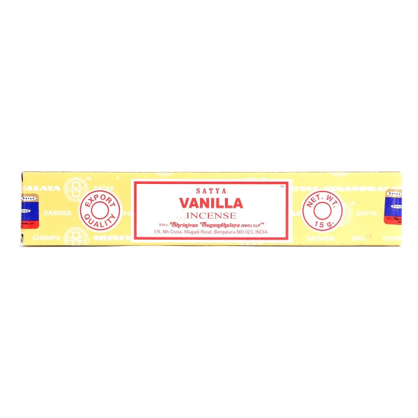 Vanilla | Beautifully Smelling Incense | Satya Sai Baba | Crystal Heart Since 1986 |
