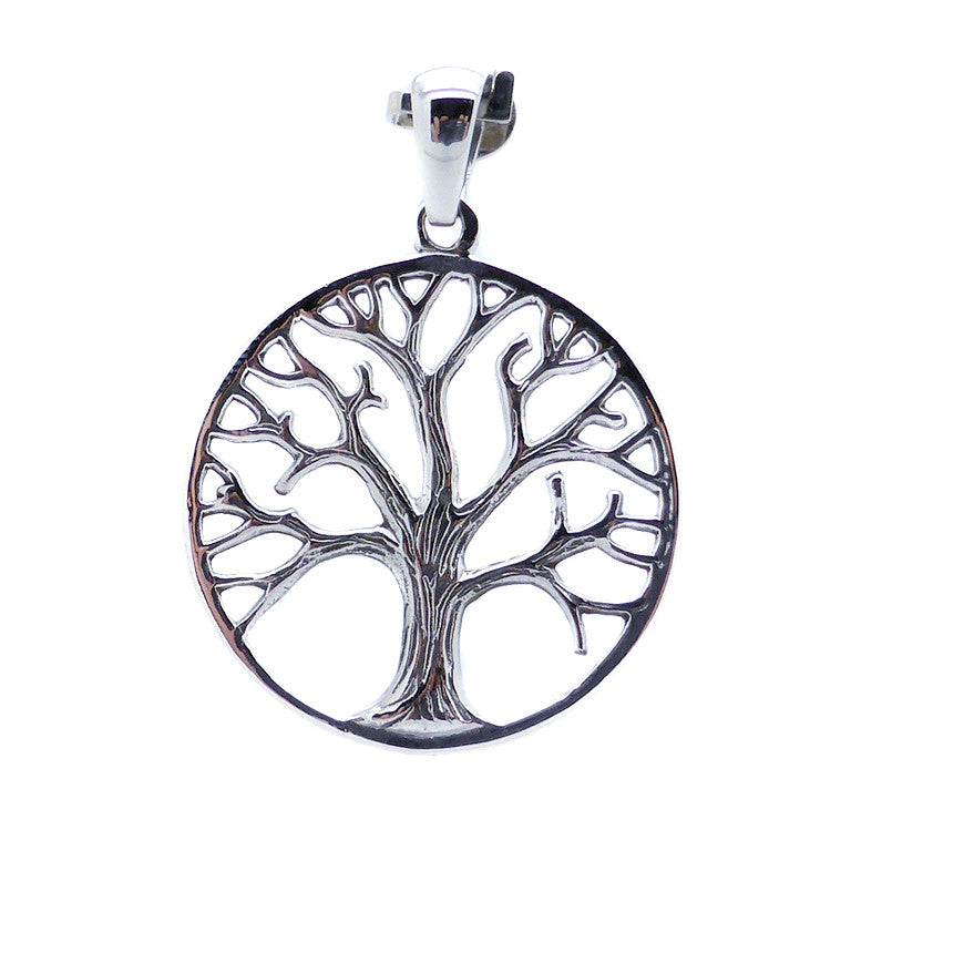 Pendant Tree in Winter, 925 Sterling Silver. Reveals the grace and inner strength that's hidden by Summer's foliage. Lovely detail even showing the bark on the Tree. A delightful Design | Crystal Heart Melbourne Australia since 1986