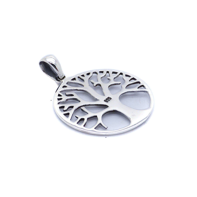 Pendant Tree in Winter | 925 Sterling Silver | Reveals inner strength hidden by Summer's foliage | 25 mm Diameter | Crystal Heart Melbourne Australia since 1986
