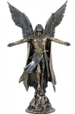 Archangel Uriel Statue | Bronzed Resin | Medium size