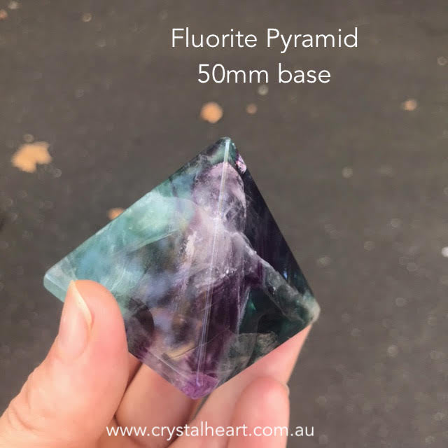 Fluorite Pyramid 50mm base