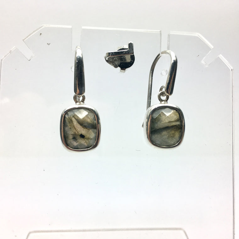 Faceted Labradorite Earring