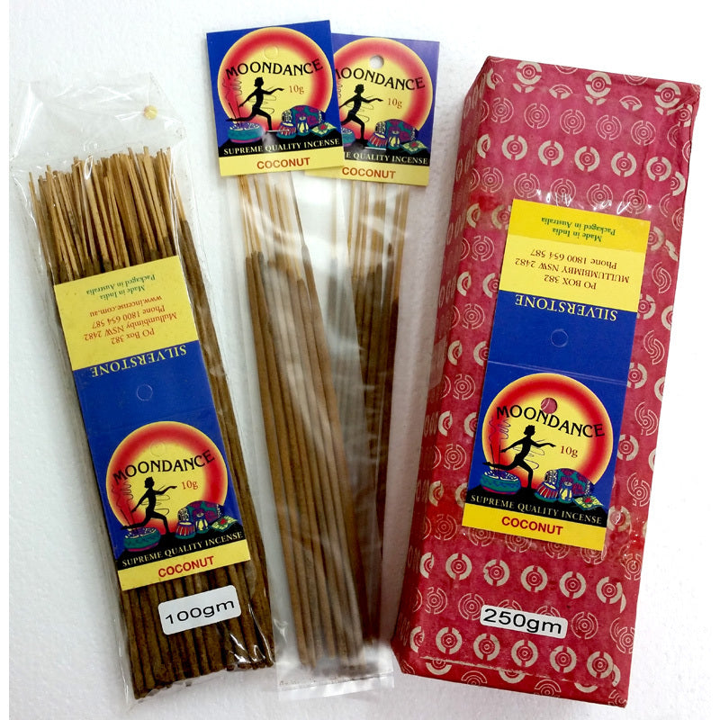 Moondance Incense - COCONUT | Beautifully Smelling Incense | Handmade incense | Natural | Crystal Heart Since 1986 |