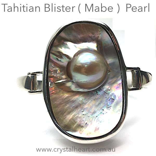 Mabe Blister Pearl Bracelet, Tahitian | 925 Sterling Silver