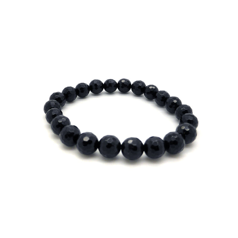 Black Onyx Bracelet, Stretch