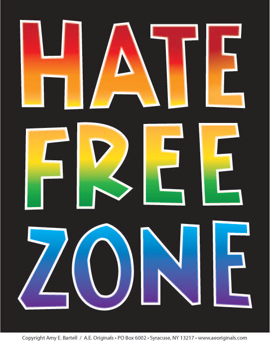 Hate Free Zone - Poster
