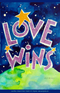 Love Wins — Postcard, Poster