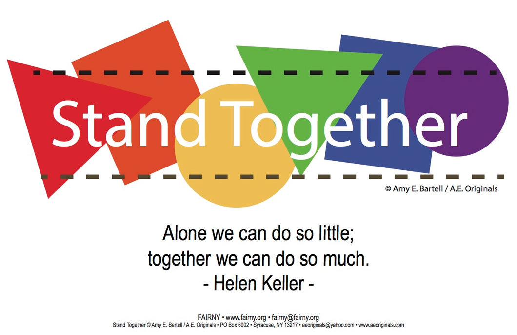 Stand Together — Postcard, Poster