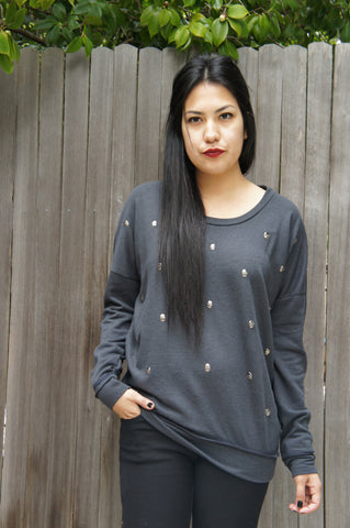 Skully Sweatshirt - Grey