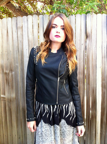 Nancy Spike Moto Jacket