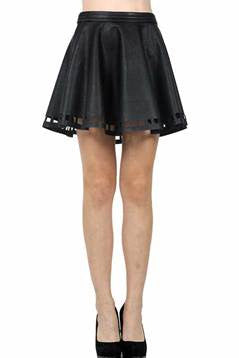 Next Level Faux Leather Skirt