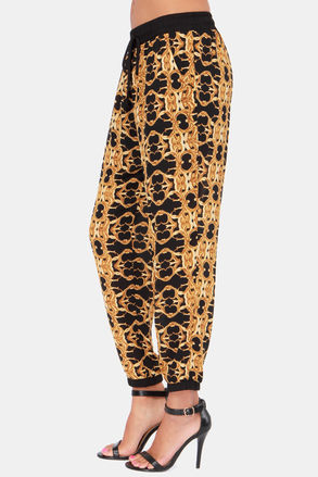 Lush Gold Baroque Track Pants
