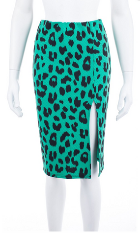 Lush Kelly Leopard Pencil Skirt