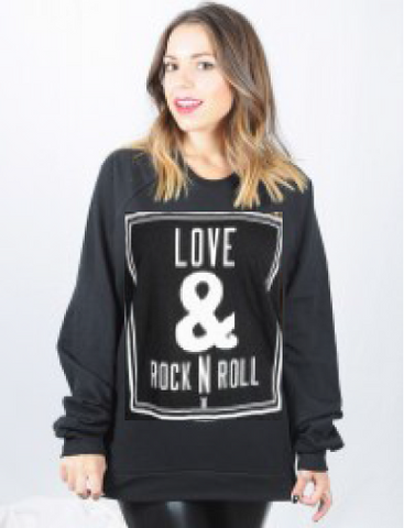 "Royal Rabbit ""Love & Rock N Roll"" Sweatshirt"