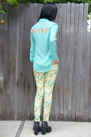 Mint - I Have Fallen For You Blouse