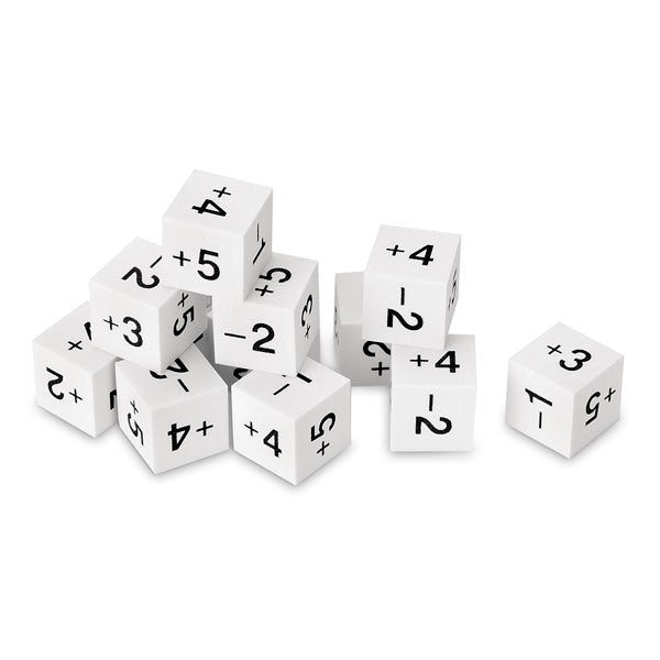Positive + negative dice 12pc (foam)