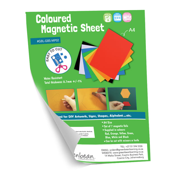Magnetic Sheet A4 - 7 Colours Glossy