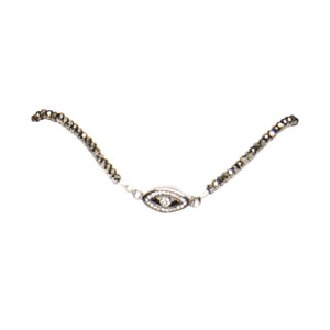 Evil Eye Diamond Choker and Wrap Bracelet