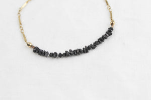 Crushed Black Diamond Gold Bracelet