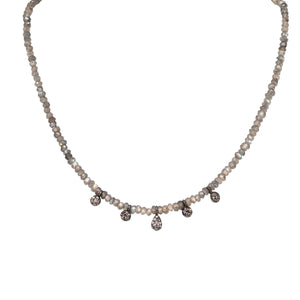 Diamond and Labradorite shaker Choker