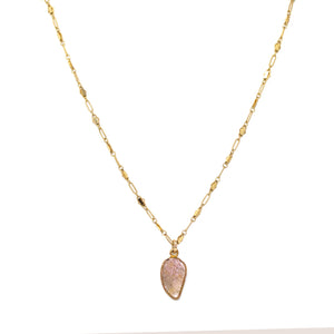 Tourmaline Sweet Leaf Necklace