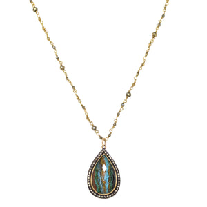 Rainbow Calcilica Diamond Necklace