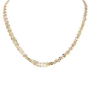 Delicate Multi Strand Gold Chain Necklace