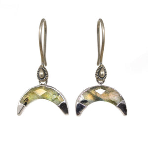 Mother of Pearl Crescent Earrings