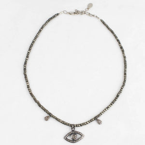 Evil Eye Diamond Choker