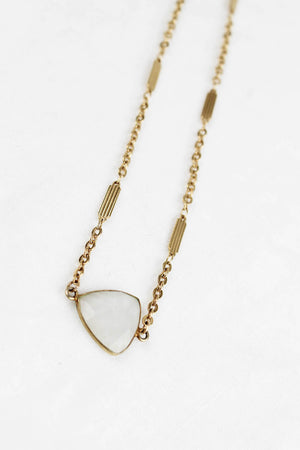 Lover Moonstone Triangle Choker