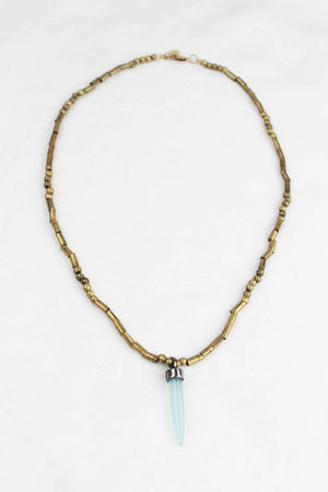 Tulum Blue Bullet Necklace