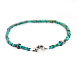 Turquoise & Pave Diamond Choker and Wrap Bracelet