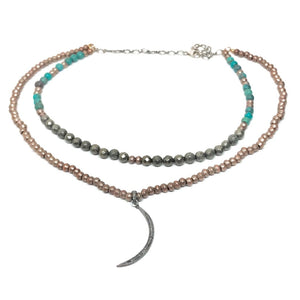 Tulum Crescent Moon Necklace