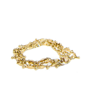The Gold J Grace Necklace and Wrap Bracelet