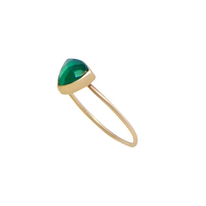 Green Gold Triangle Ring