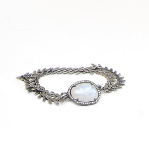Moonstone Diamond Choker
