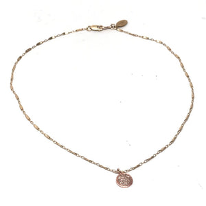 Rose Gold Diamond Disc Choker