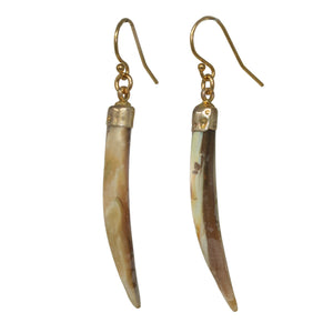 Gold Mini Tusk Earrings