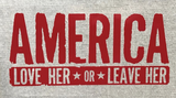 Love Her Or Leave Her Vinyl Window Decal (Multiple Colors)