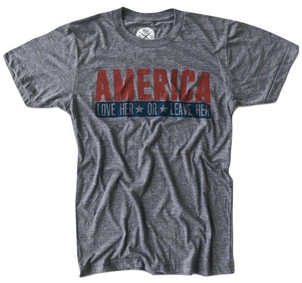 Men's America Love Her Or Leave Her (Heather Gray)