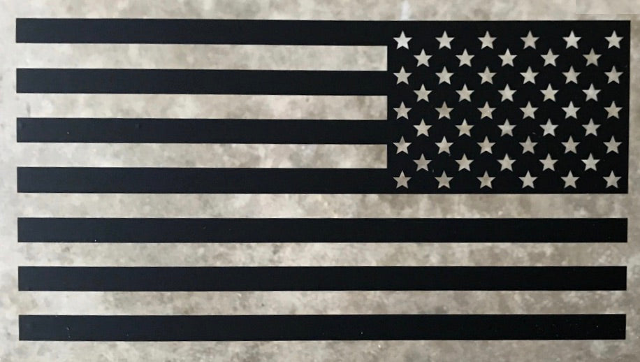 American Flag Decal Assaulting Forward (Black Multiple Sizes)