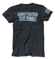 Women's Conquer And Stay Humble Patriotic T-Shirt