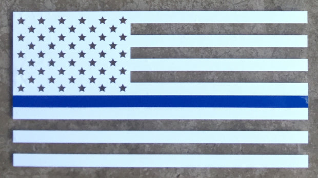 Thin Blue Line American Made Vinyl Window Decal
