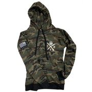 Men's American Flag Patch Camo Pullover Hooded Sweatshirt