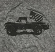Men's Classic American Truck Tri-Blend T-Shirt (Heather Gray)