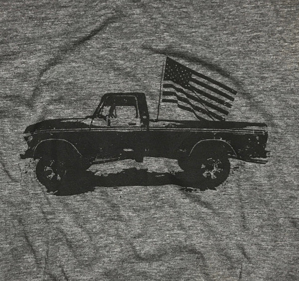 4d57352d Classic American Pick Up Truck American Flag Shirt – Red White Blue ...