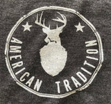 Men's American Tradition Deer Hunting T-Shirt (Heather Black)