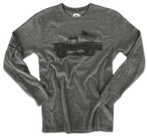 Men's Classic American Truck Thermal Long Sleeve Shirt (Heather Gray)